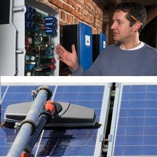 Vérification d'une installation photovoltaique + nettoyage